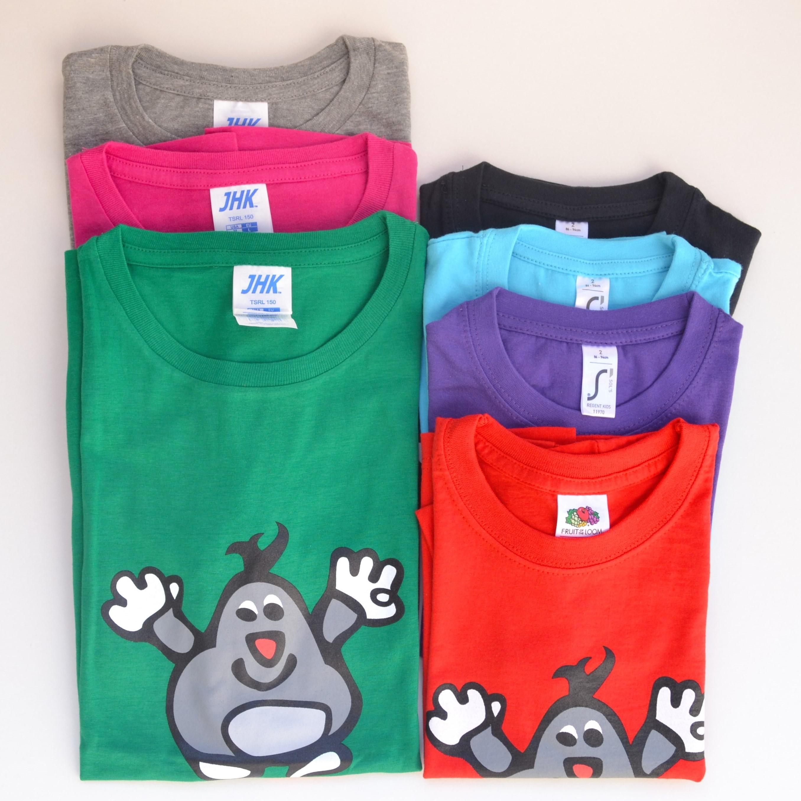 tričko pro děti (150,- Kč), pro dospělé (200,- Kč)
