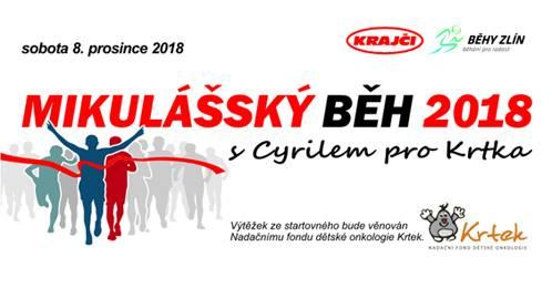 Mikulášský běh pro Krtka Zlín 2018
